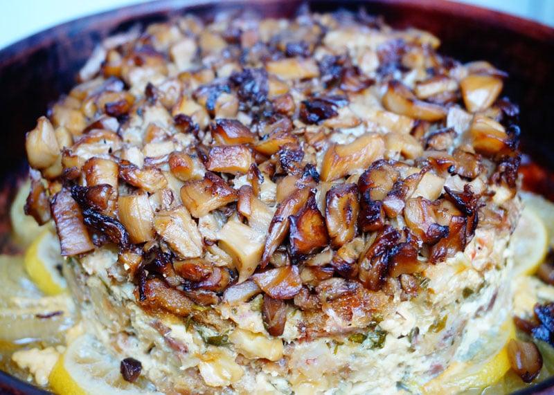 Рецепт приготовления рыбного пирога с языком и брынзой фото