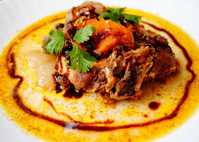 Рецепт тушеной баранины с тыквой и сливами