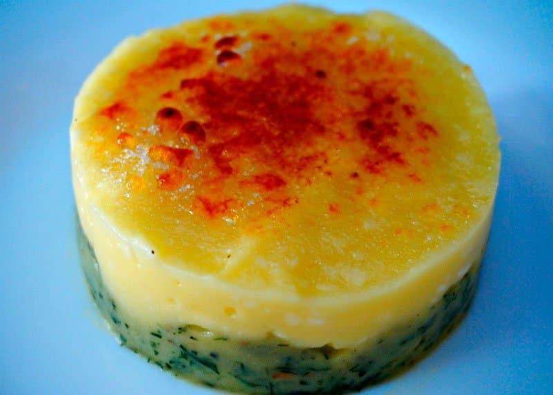 Рецепт приготовления картофельного пюре с сыром, зеленью и карамельной корочкой фото