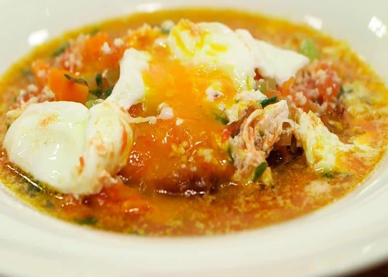 Приготовление острого супа из овощей Аквакотта фото
