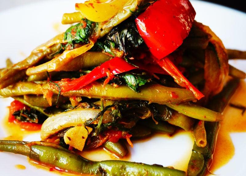 Рецепт приготовления овощного рагу со стручковой фасолью фото