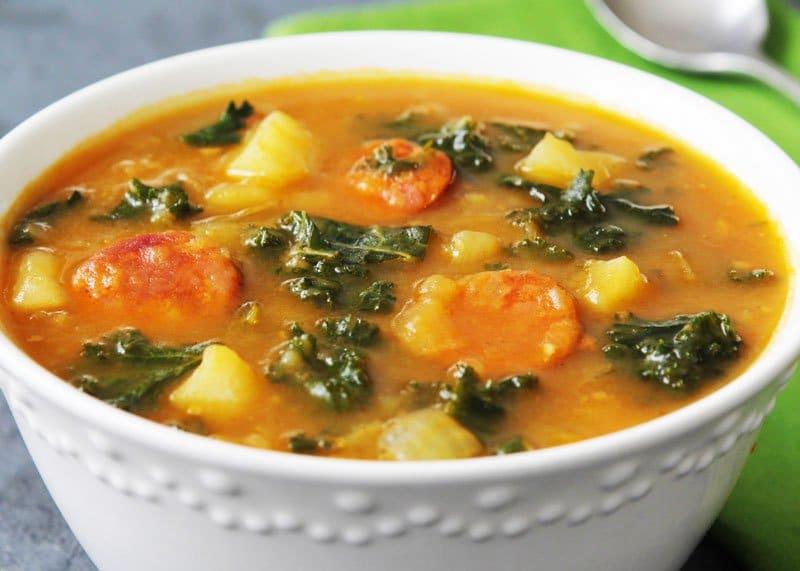 Рецепт приготовления овощного супа Калду Верде фото