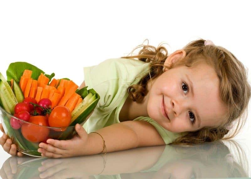 Овощные дети, вегетарианская диета фото