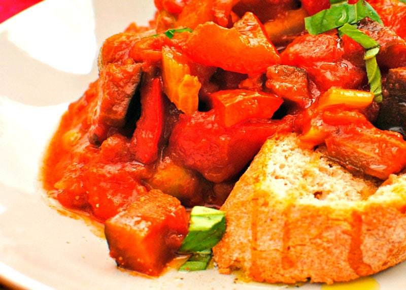 Приготовление рагу из овощей по-сицилийски или Капоната фото