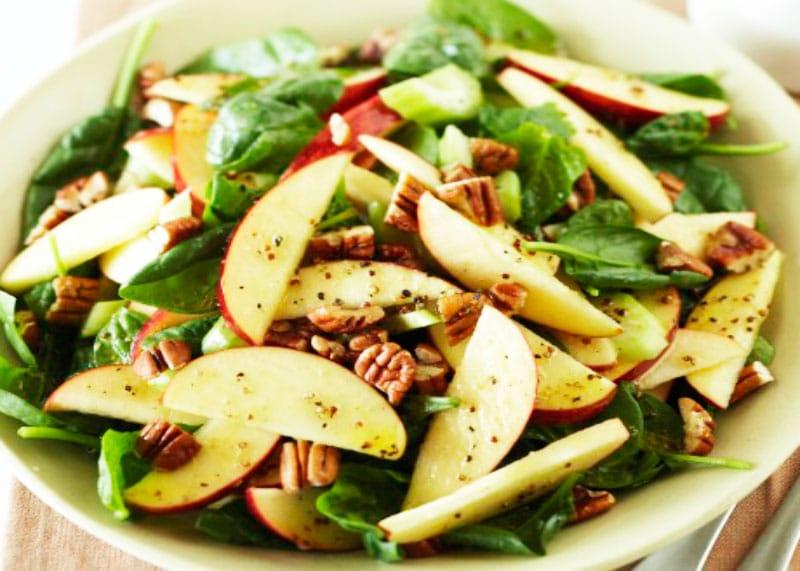 Рецепт салата язык с яблоками