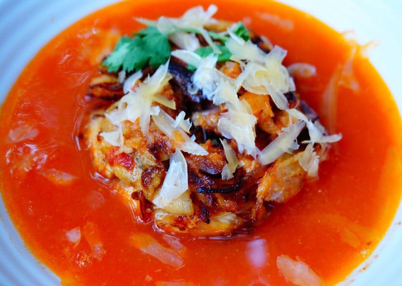Как приготовить томатный суп с курицей фото