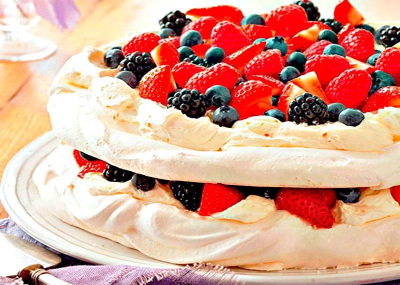 Приготовление торта Павлова фото