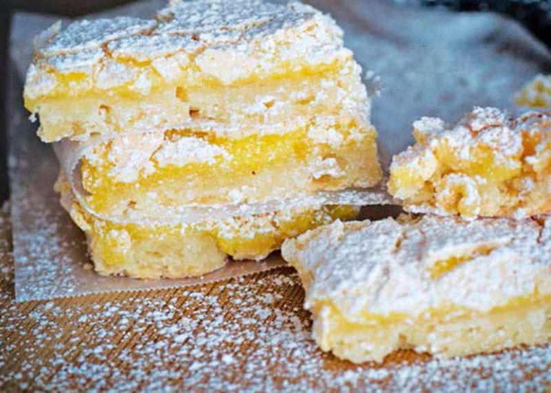 Рецепт приготовления лимонного пирога Новогоднее желание фото