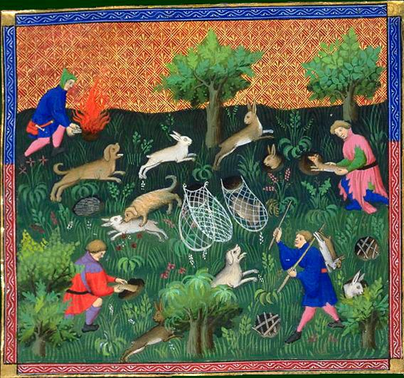 Описание охоты на кролика в Средние века фото