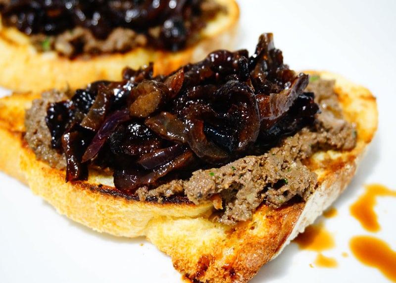 Рецепт приготовления паштета из куриной печени или кростини тоскани фото