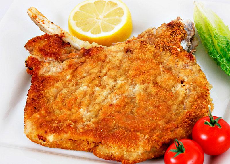 Рецепт приготовления рибая по-милански или котолетта ала миланьезе фото