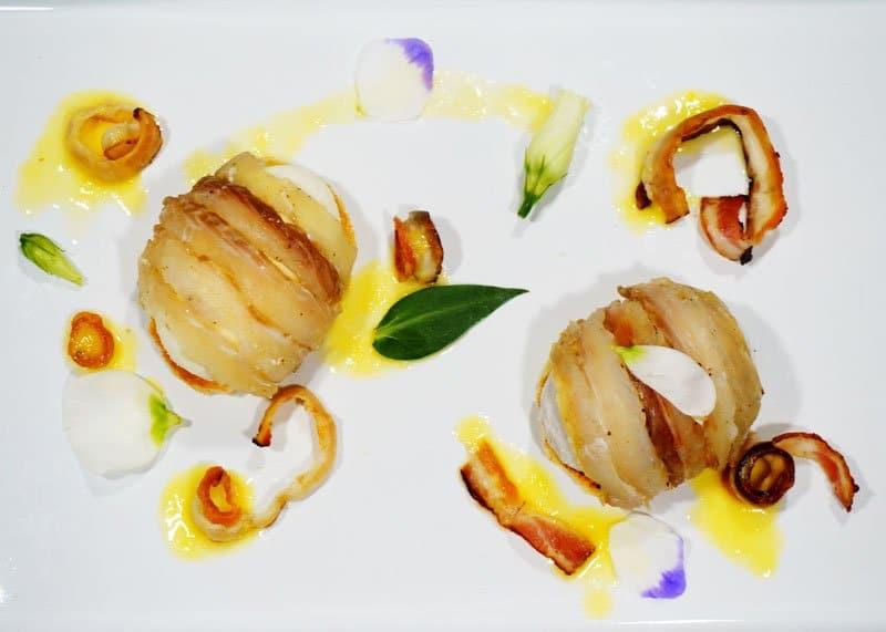 Рецепт приготовления рыбы под маринадом с мороженым из пастернака и лука фото