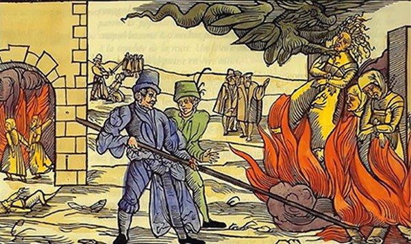 Как сжигали ведьм фото