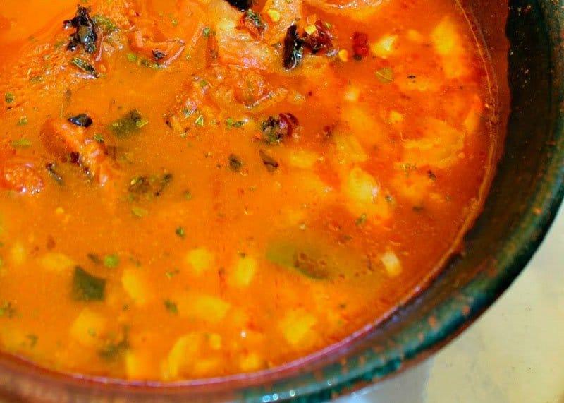 Рецепт приготовления овощного супа с хлебными крошками фото