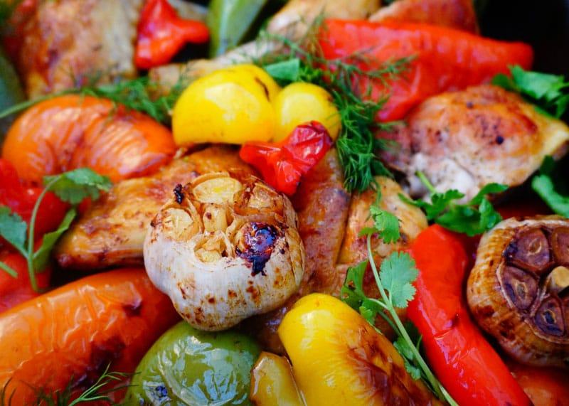Приготовление рагу из цыпленка и перца фото