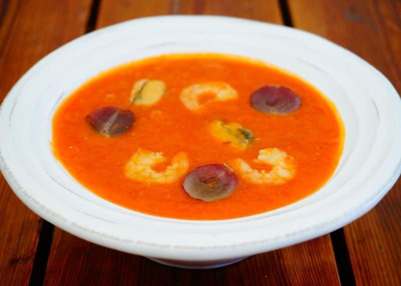 Рецепт приготовления томатного супа из малаги или зокуэ фото