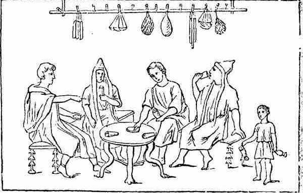 Винный бар в Древнем Риме фото