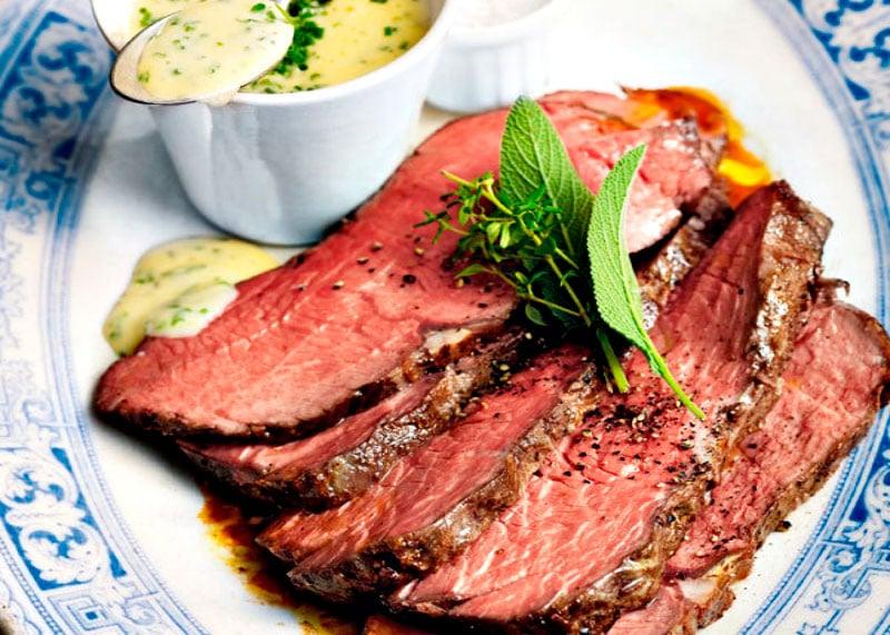 Рецепт запеченной говядины в духовке фото