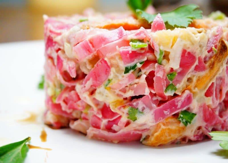 Приготовление картофельного салата фото