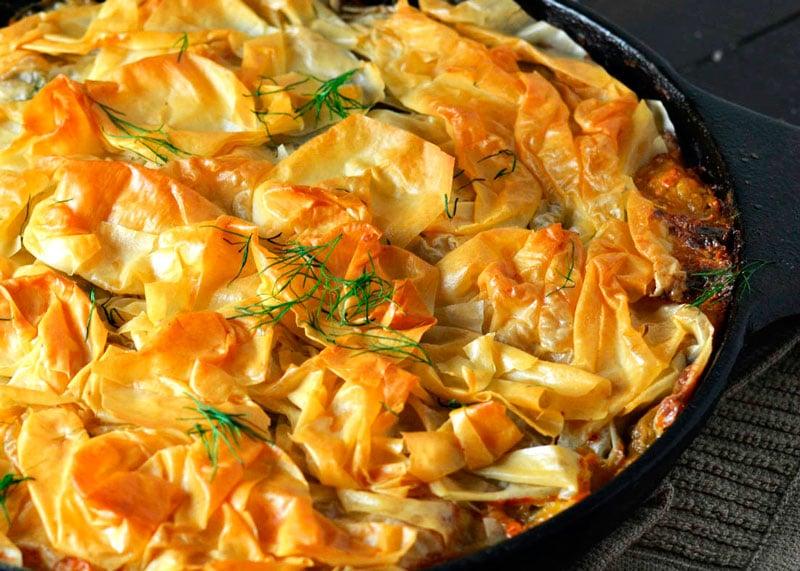 Рецепт пирога курицы и шпината фото