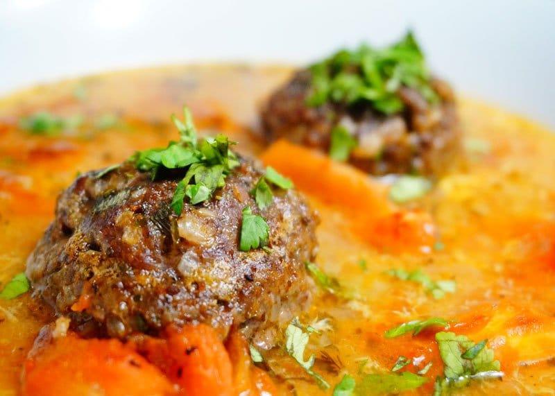 Рецепт супа с тефтелями из баранины фото