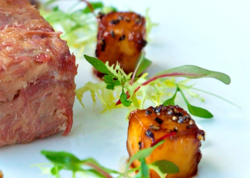 Свиные хлебцы с ананасом рецепт фото