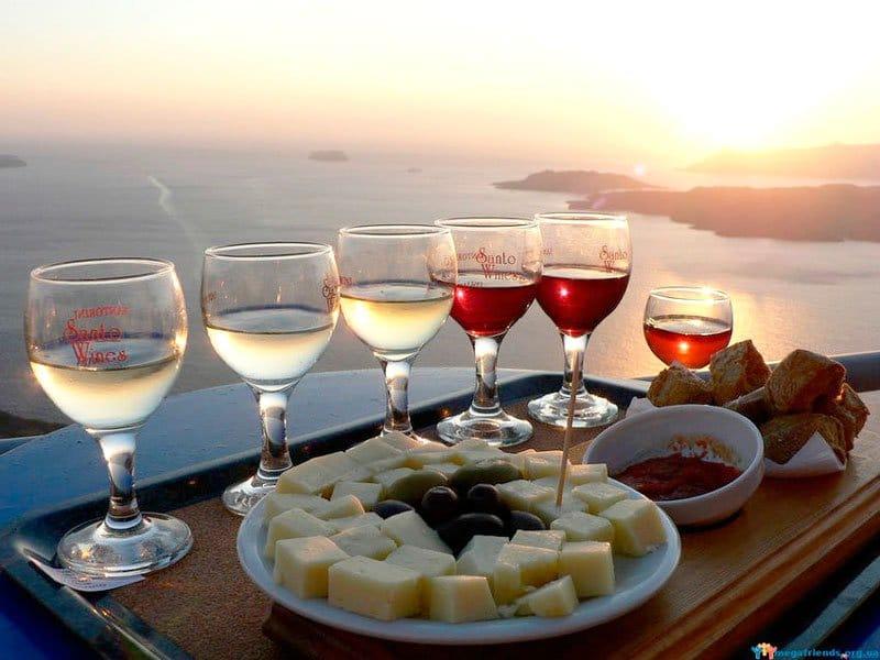 Греческое вино фото