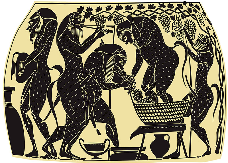 Производство вина в древней Греции фото