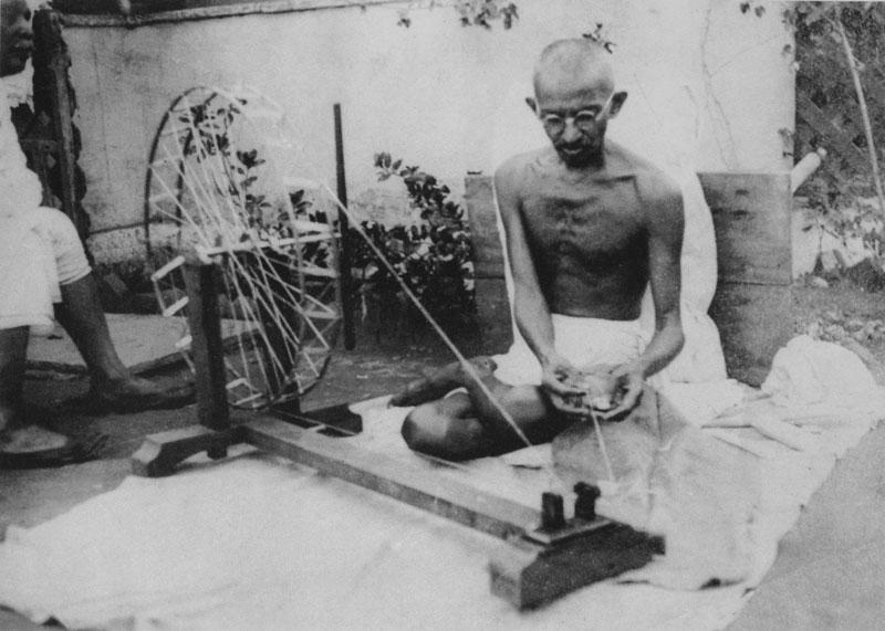 Ганди и вегетарианство фото