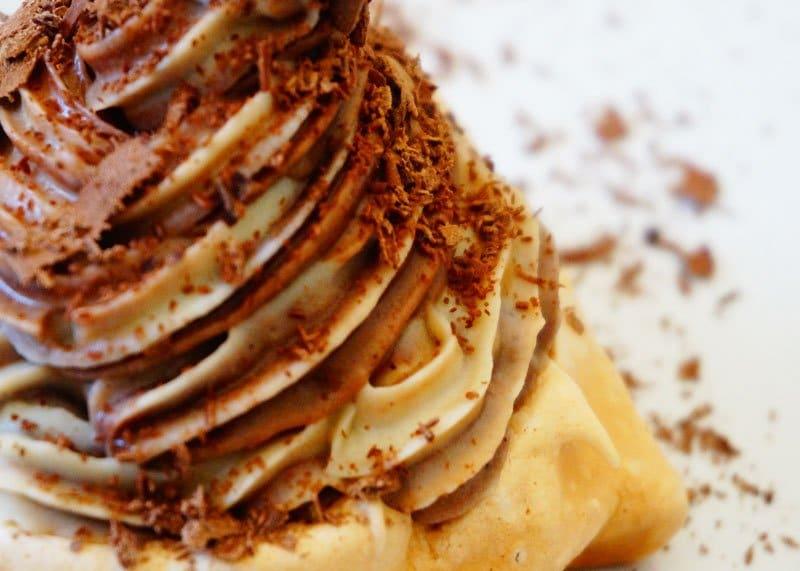 Безе с шоколадным кремом рецепт фото