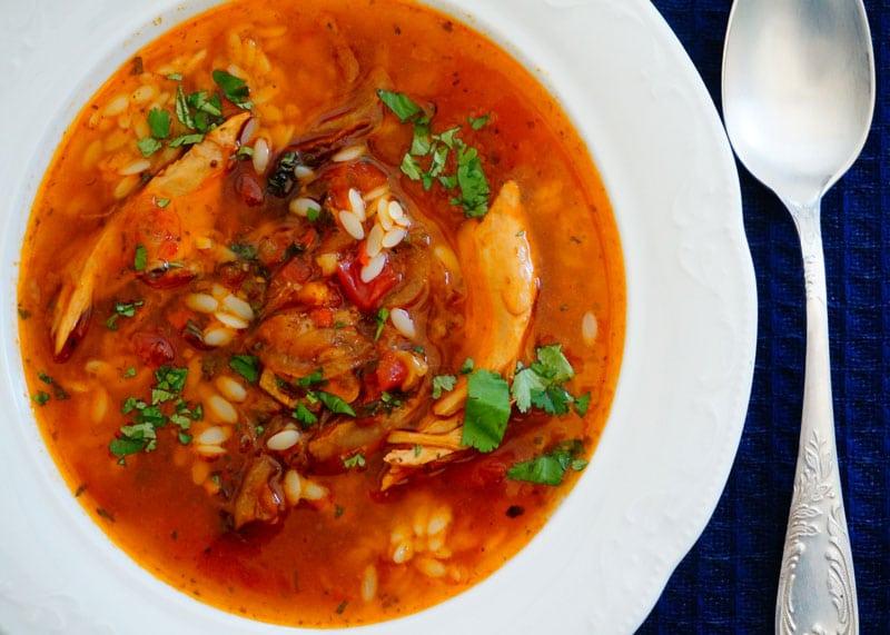 Рецепт марокканского пряного супа из курицы фото