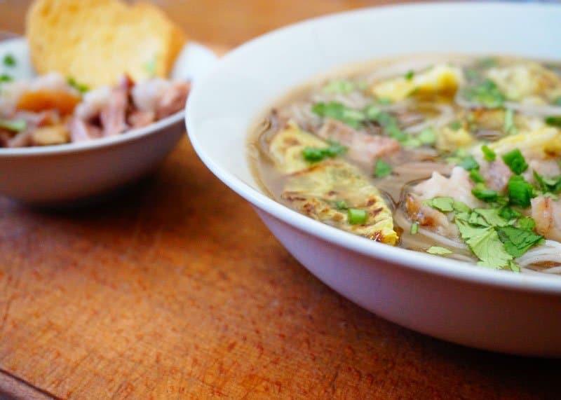 Острый кунжутный суп с рулькой рецепт фото