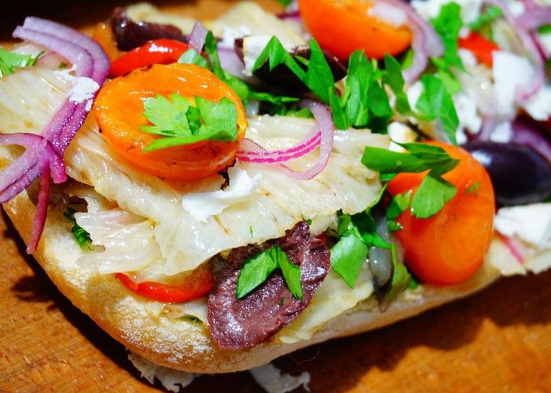 Как приготовить сэндвич с овощами фото