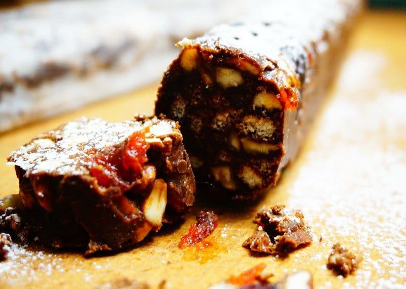 Шоколадная колбаска рецепт фото