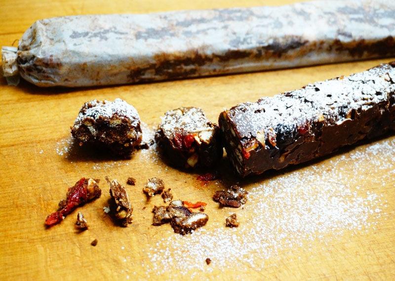 Рецепт шоколадной колбаски фото