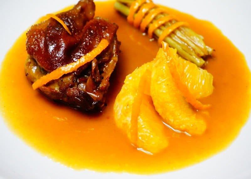 Утка в апельсиновом соусе рецепт приготовления фото