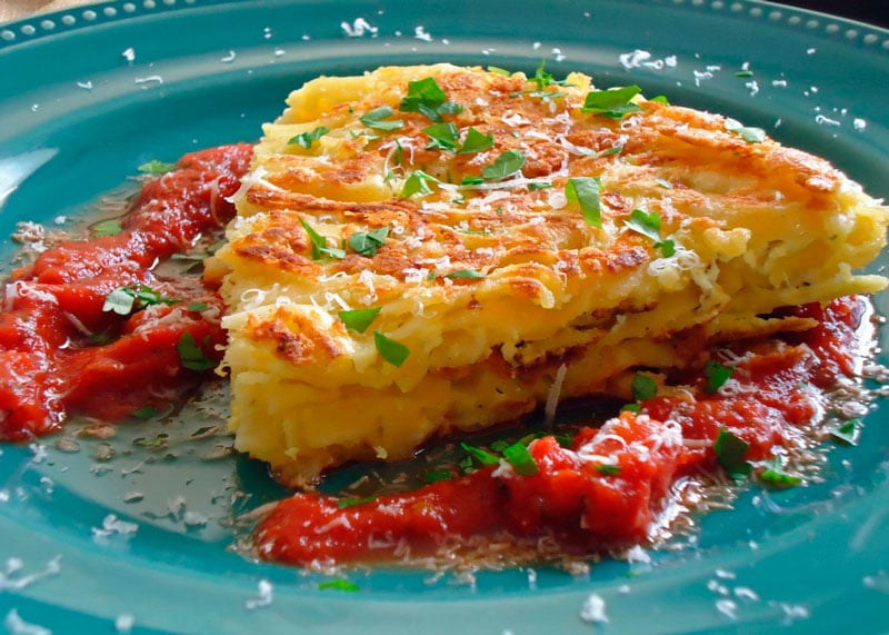 Рецепт яичницы со спагетти фото