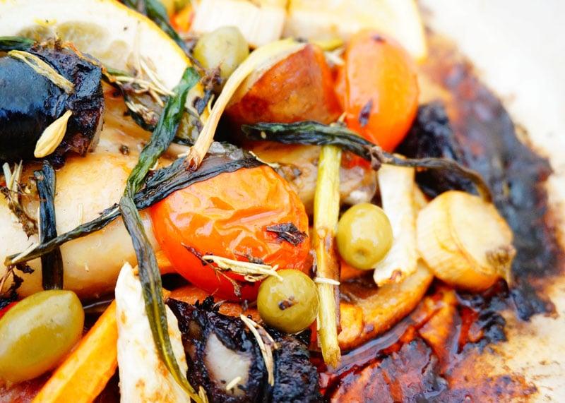 Рецепт цыпленка, запеченного с овощами фото