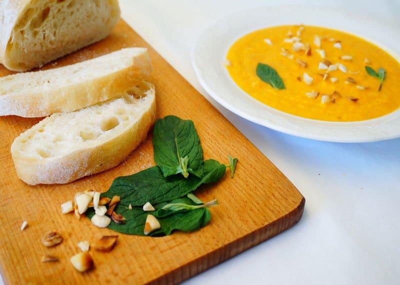 Рецепт крем супа из моркови с апельсином фото