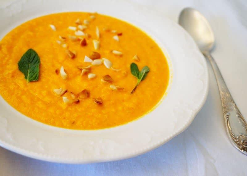 Приготовление крем супа из моркови с апельсином фото