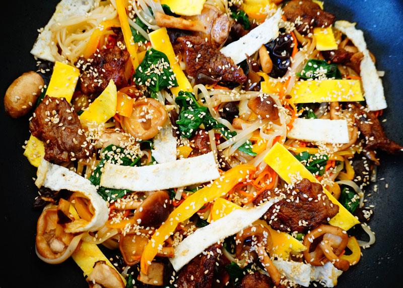 Лапша с телятиной и овощами приготовление фото