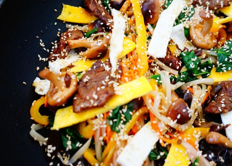 Рецепт лапши с телятиной и овощами фото