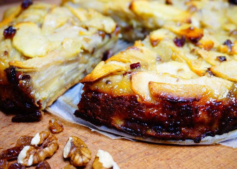 Пирог с грушами и яблоками рецепт