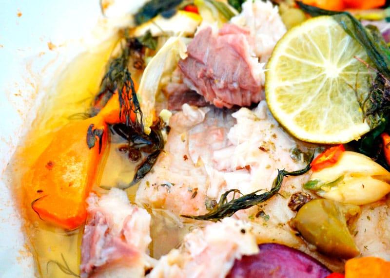 Приготовление рыбы в папильотке по-норвежски фото