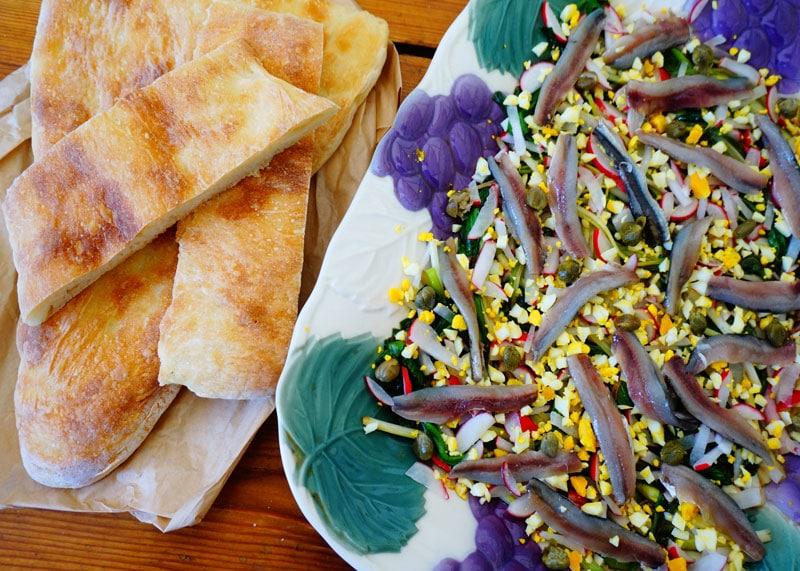 Рецепт салата из зеленого лука и черемши фото