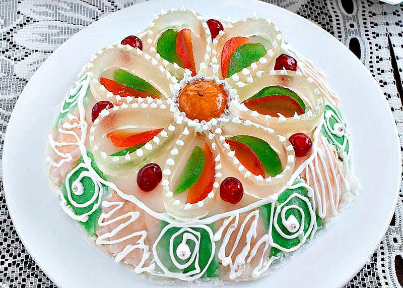 Рецепт бисквитного торта касата фото