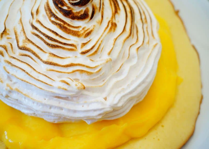 Пирожное с лимонным курдом приготовление фото