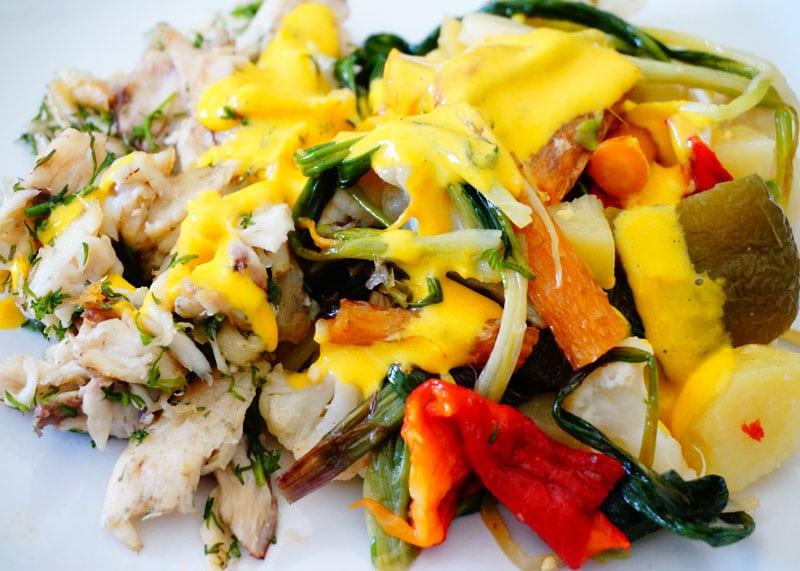 Рыба с овощами рецепт приготовления фото