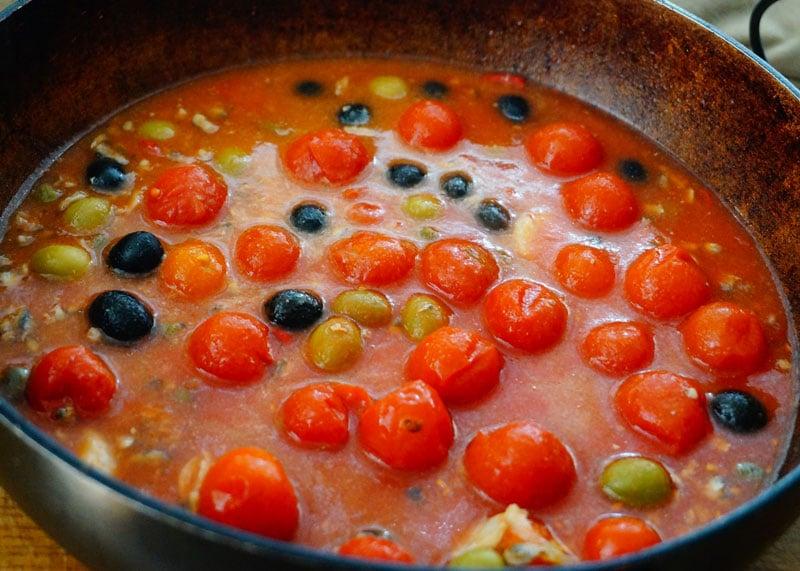 Спагетти с томатами и анчоусами рецепт приготовления фото