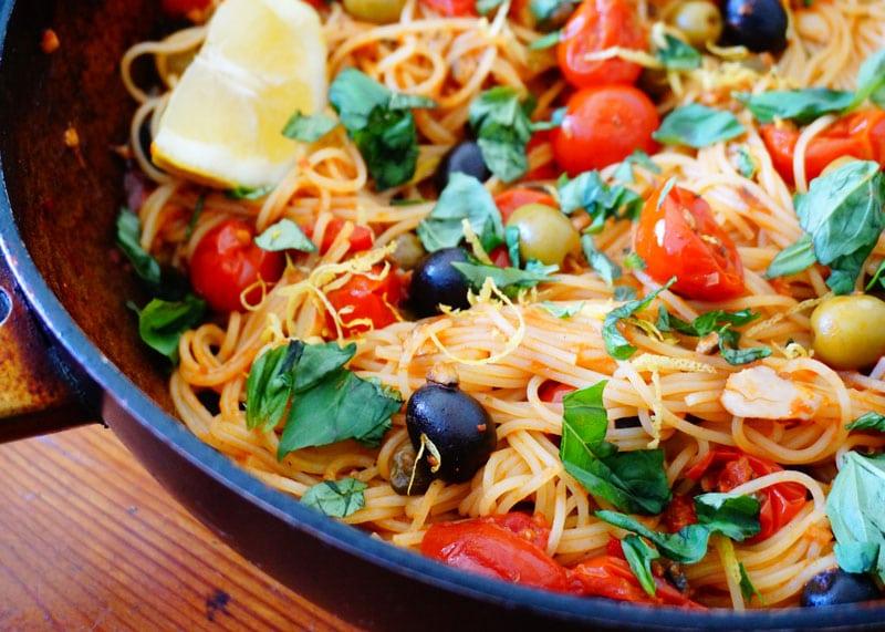 Рецепт спагетти с томатами фото